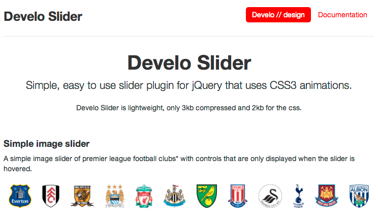 A lightweight, jQuery content slider that uses CSS animations.